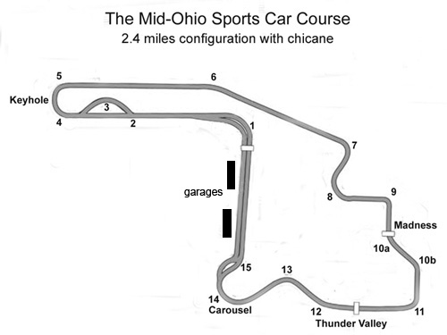 Mid-Ohio Map